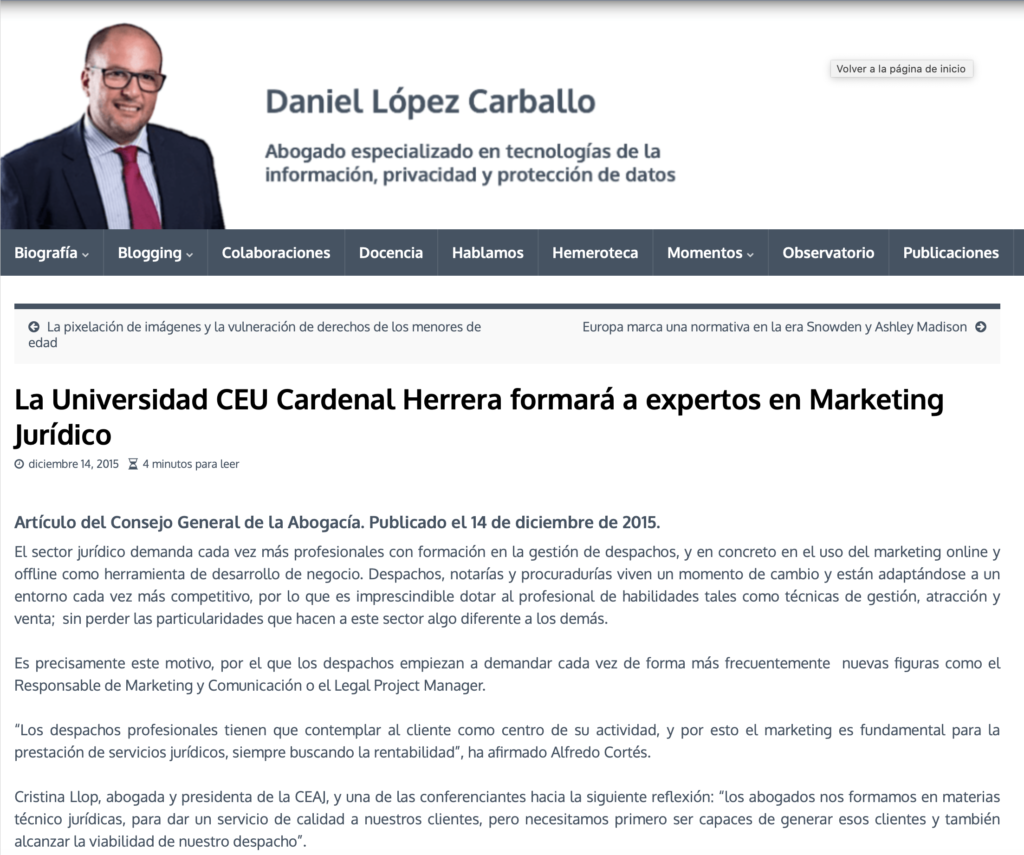 Alfredo Cortés experto en marketing jurídico. Especialista en marketing y comunicación para abogados